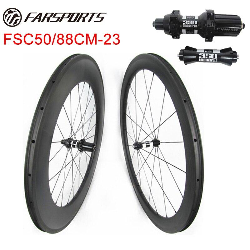 TT carbono estrada rodados de bicicleta 50mm 88mm mixed corrida rodados 700C cheio de fibra de carbono toray a partir de Xiamen Farsports