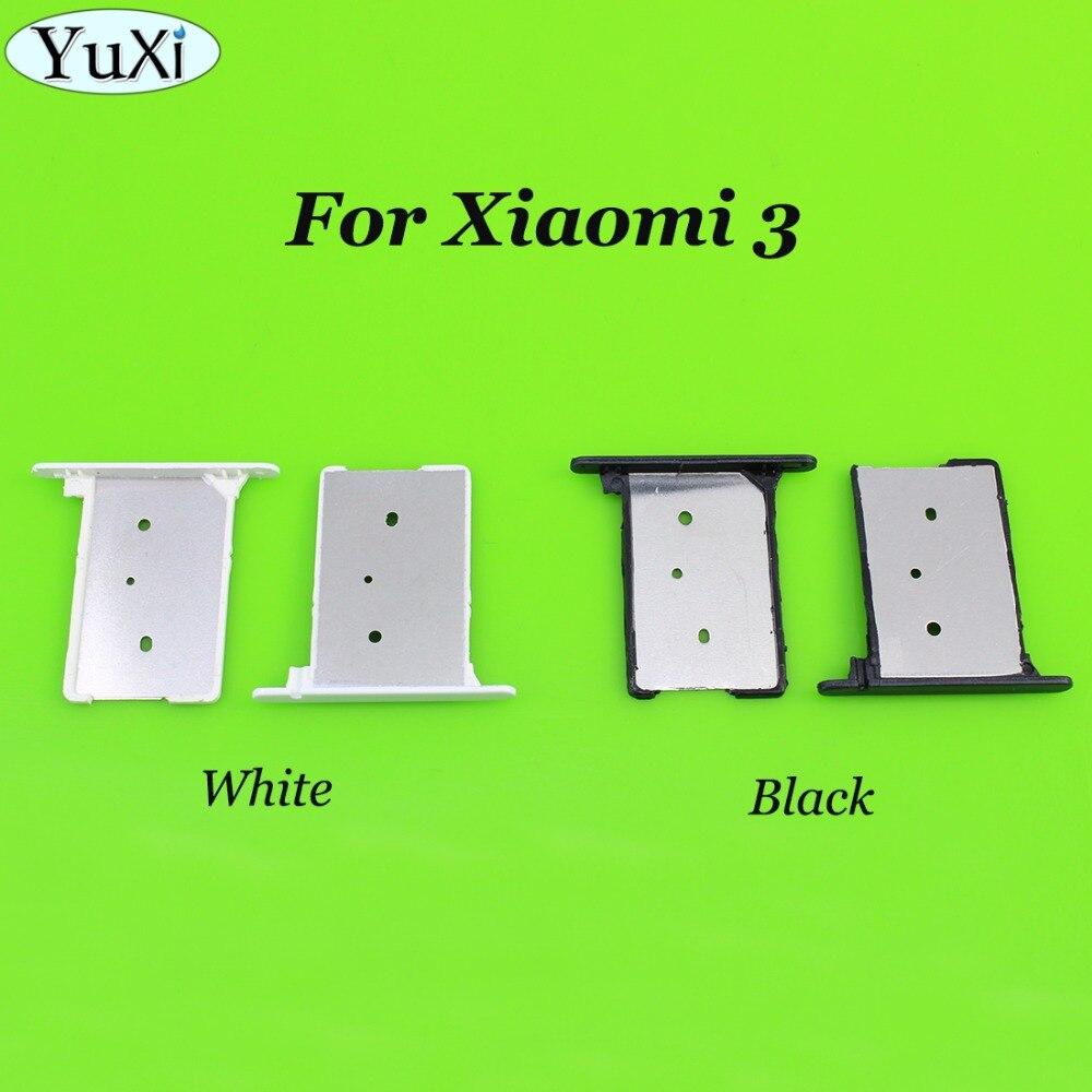 YuXi para Xiaomi mi 3 soporte para tarjeta SIM bandeja ranura para tarjeta para Xiaomi mi 3 mi 3 5,0 pulgadas Quad Core teléfono móvil blanco negro oro plata