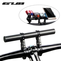 carbon fiber bike bicycle handlebar extender lengthen mount lamp cnc lightweight mtb flashlight computer phone holder g202