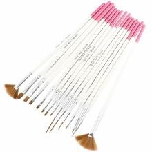 15PCS Nail Art Design Brushes Gel Set Painting Draw Pen Polish Dropshipping Makeup brush [Retail] G0115