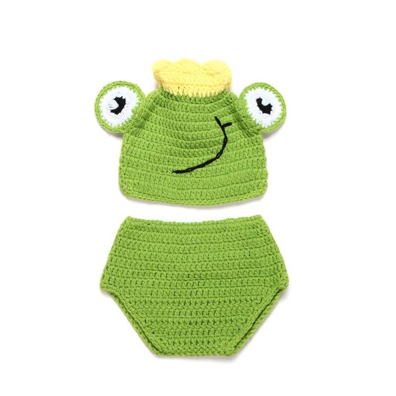 Accesorios de fotografía de 0-3 meses con corona de lana bonita para bebé de ganchillo a mano salvaje días ropa de bebé recién nacido