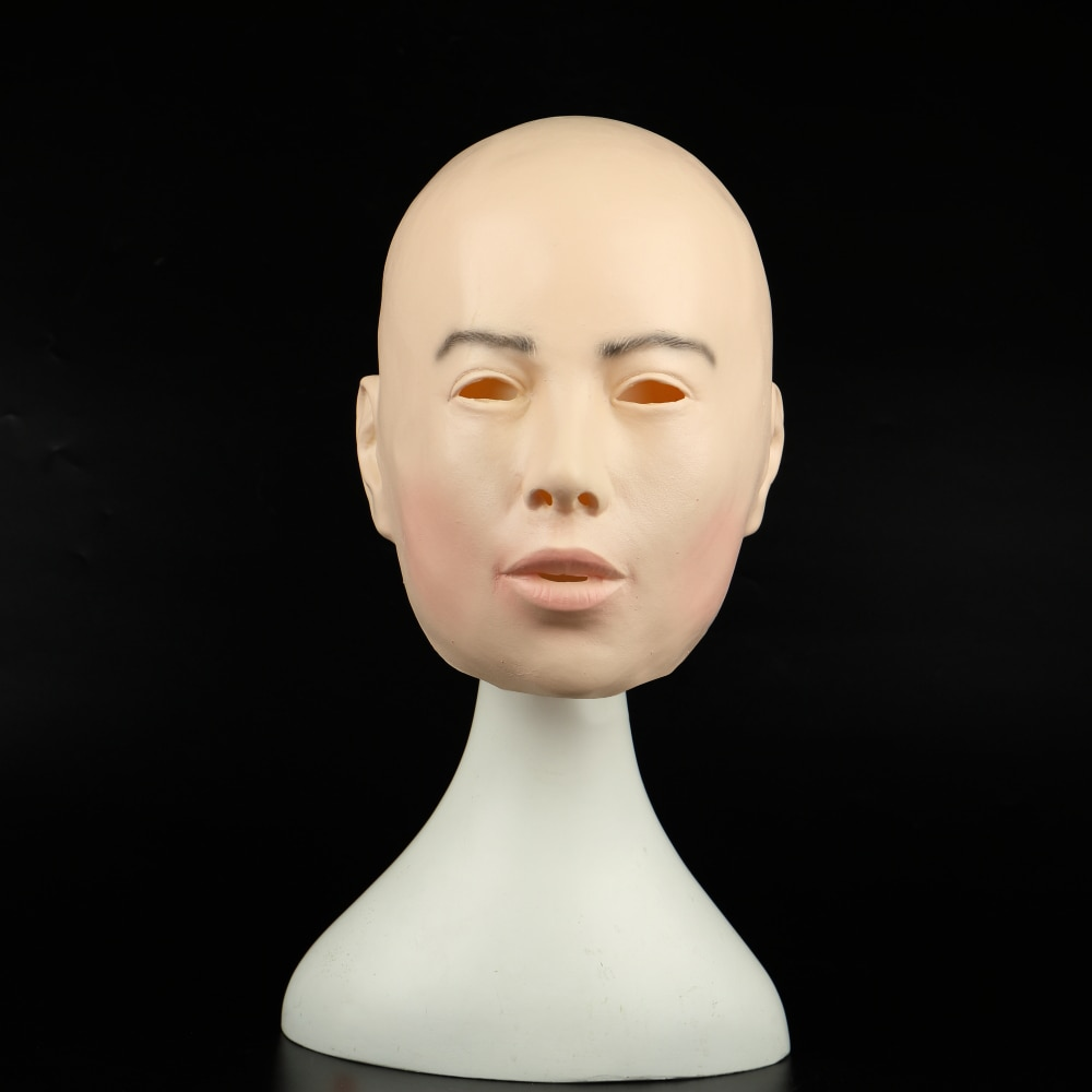 Máscara de mujer realista para Halloween mascarada humana femenina máscara de fiesta de látex Sexy Girl Crossdress disfraz de cosplay, Máscara