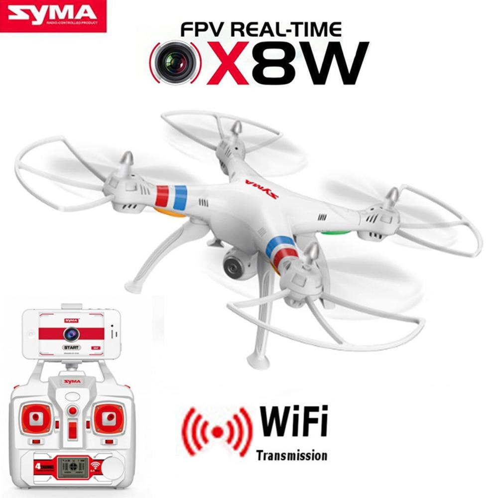 SYMA X8W FPV RC Квадрокоптер Дрон с WIFI камерой 2,4G 6-осевой Дрон SYMA X8C 2MP камера RTF RC вертолет с камерой VS X8HW
