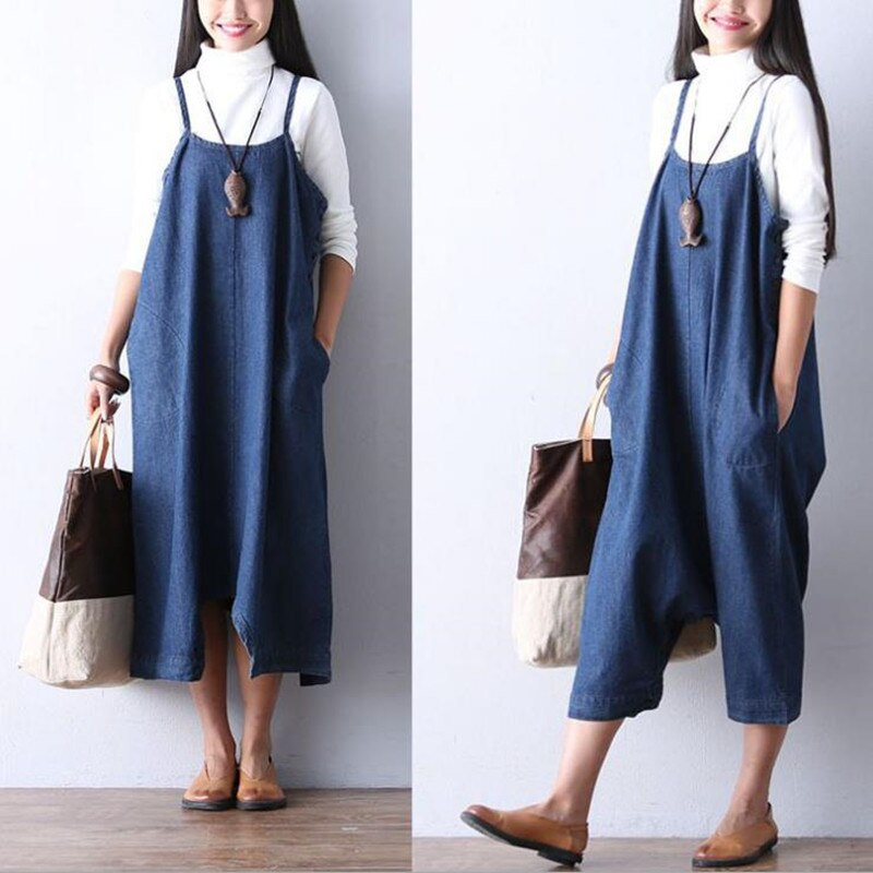 MODENGYUNMA Maternity Jeans Overalls Summer Denim Strapped Dress Pregnancy Clothes Dress For Pregnant Women Robe Maternity dress enlarge