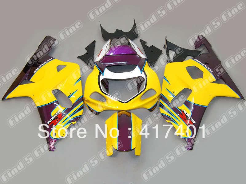 yellow purple white black for GSX R600 R750 01-03 GSXR 600 GSXR600 GSXR750 GSX-R600 750 K1 01 02 03 2001 2002 2003 fairing kit
