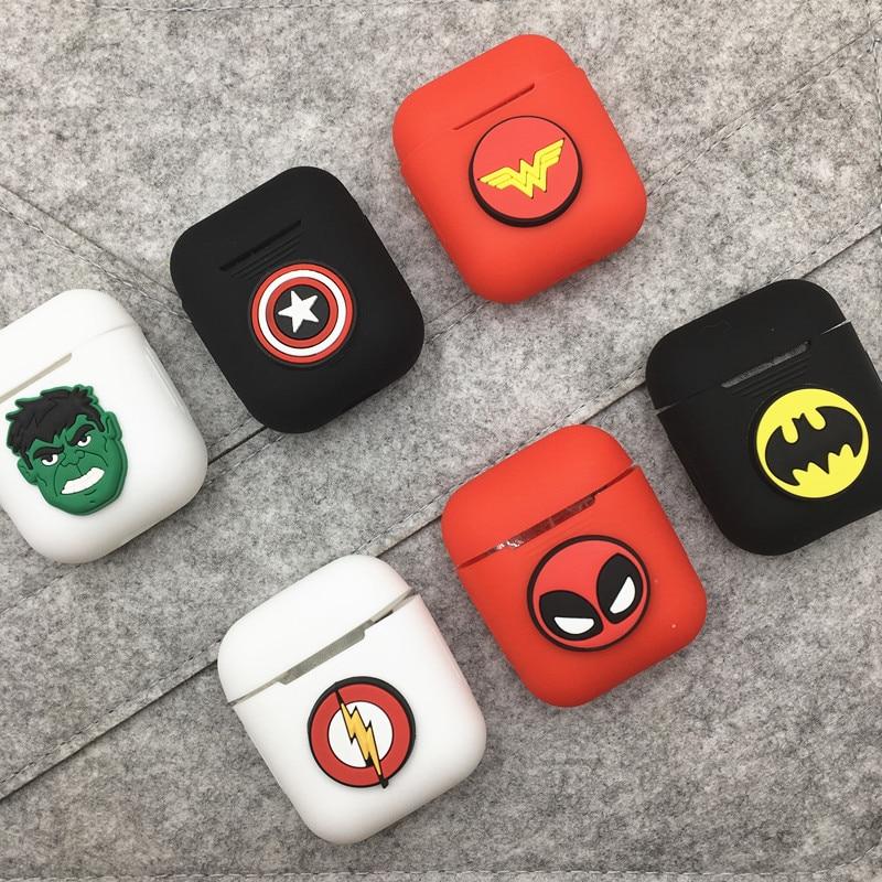 Funda de silicona suave de dibujos animados para auriculares Apple Airpods a prueba de golpes para Apple AirPods Ultra Thin funda protectora de Airpods
