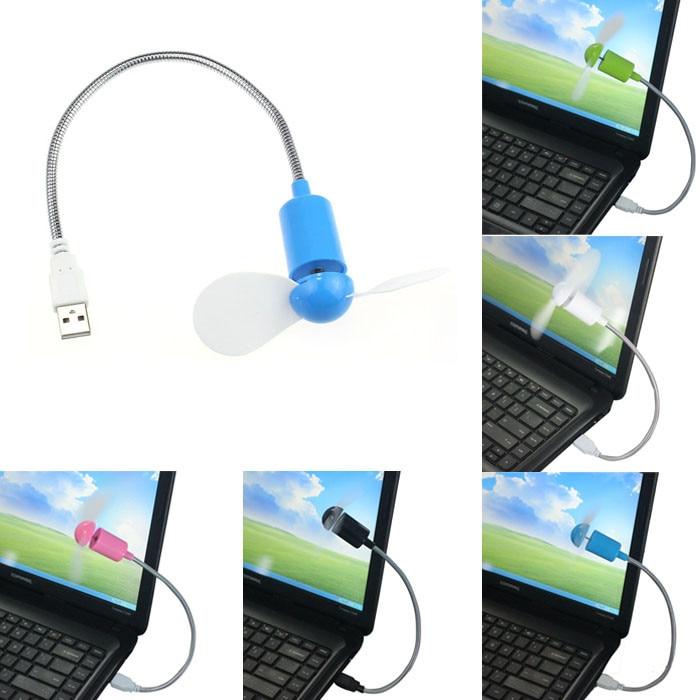 40 @ ventilador enfriador USB Flexible Mini ventilador enfriador para ordenador portátil Escritorio PC ventiladores blancos