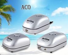 Hailea aco 2 w 5 w 10 w 수족관 공기 펌프 공기 압축기 산소 airpump 단일 및 이중 콘센트. 물고기 액세서리 공기 압축기