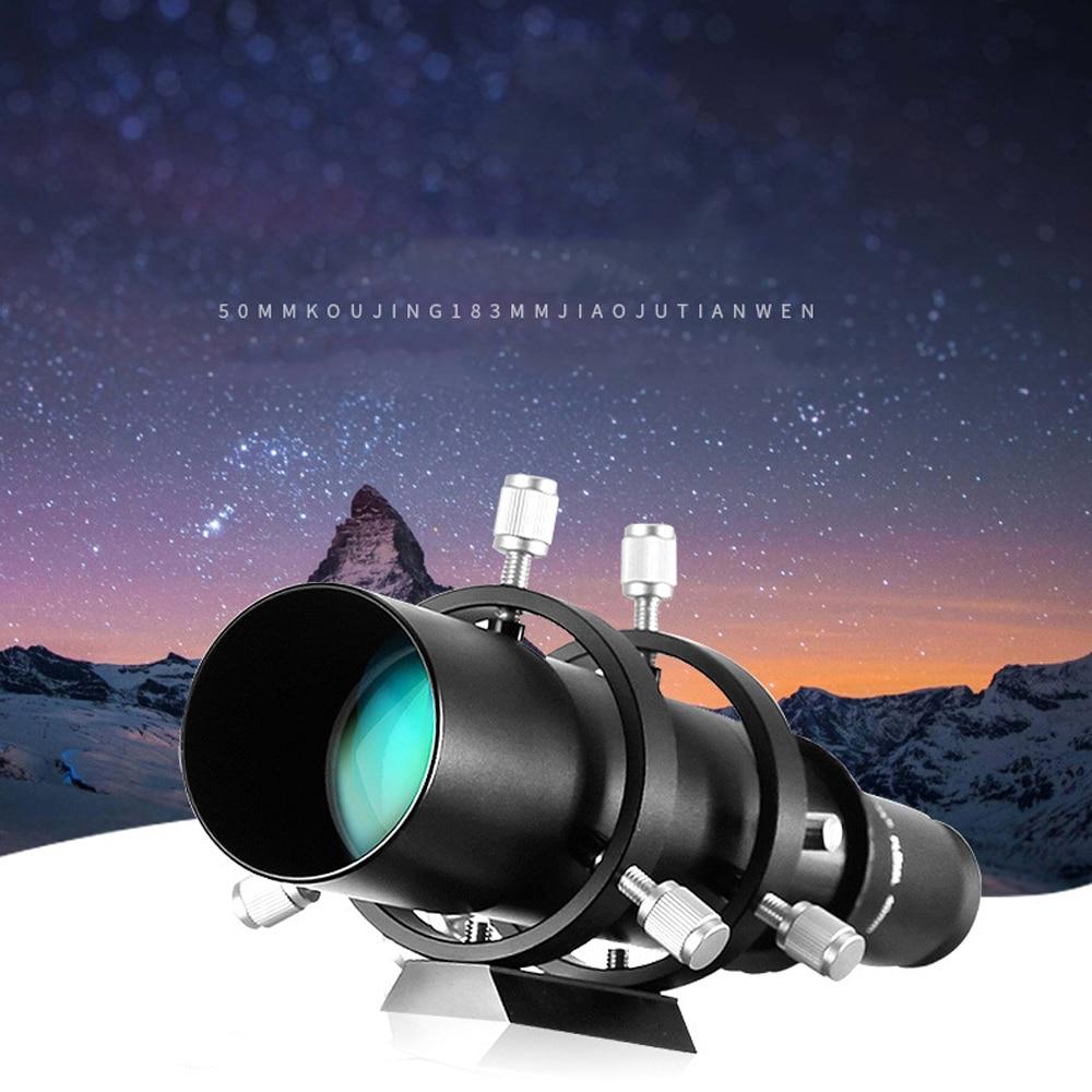 50mm מדריך היקף Finderscope עבור האסטרונומי טלסקופ 183mm 1.25in מוקד אורך יחס לguidescope עם Focuser סליל הכפול