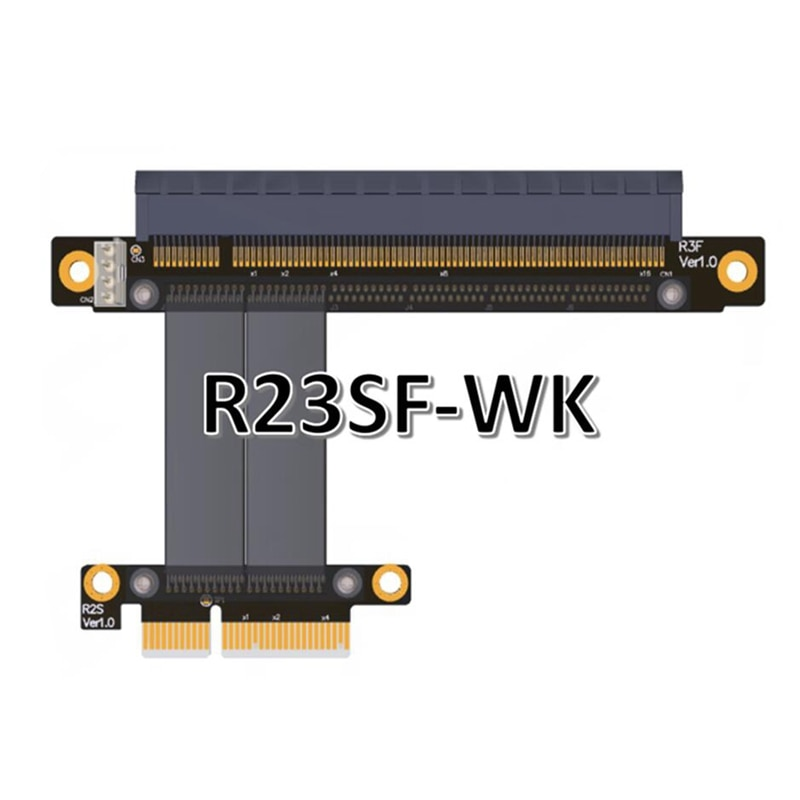 Nuevo Cable de extensión de tarjeta gráfica de minería BTM PCIe 3,0 16x a 4x PCI-E cable plano flexible Riser 25 cm para AMD Tarjeta NVIDIA No USB