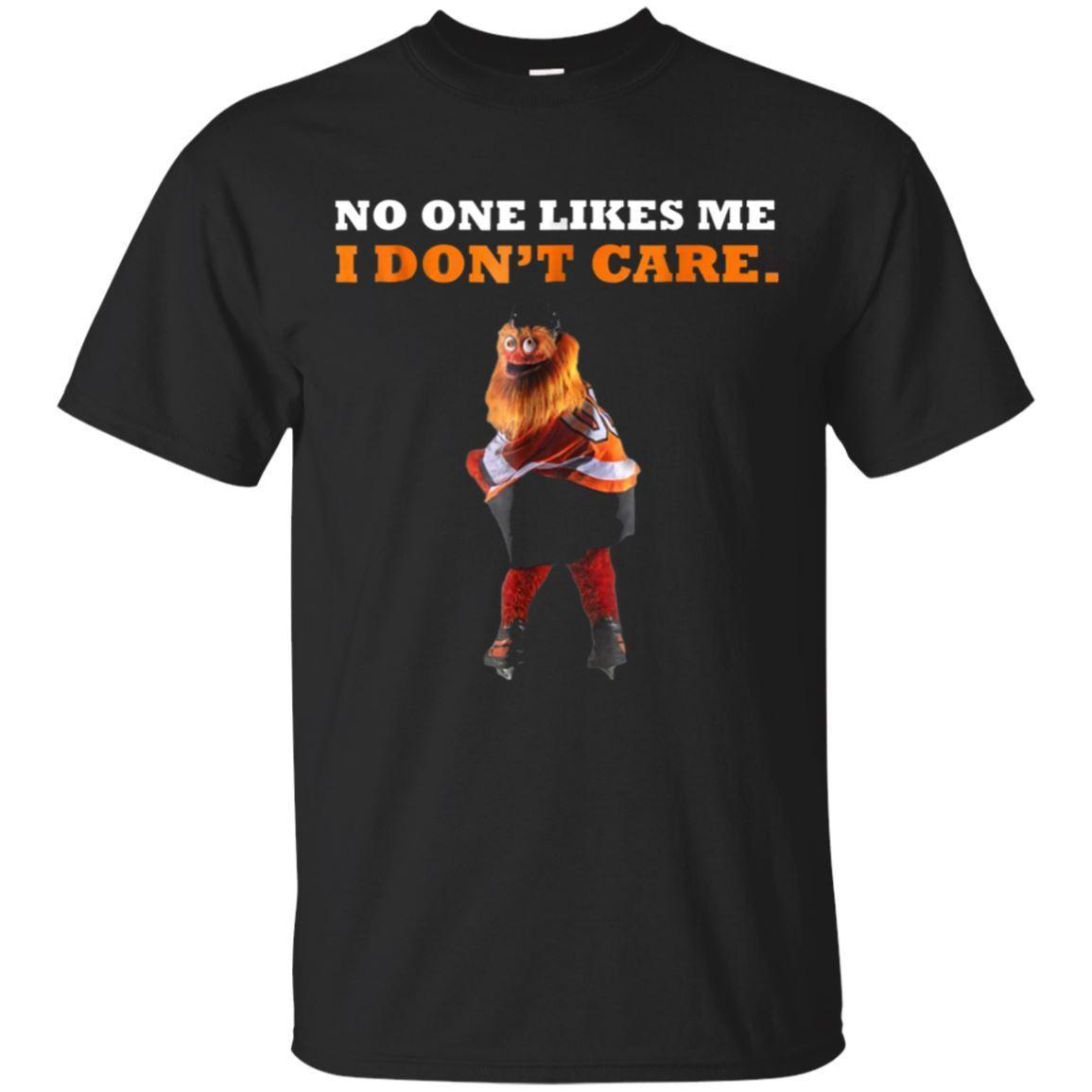 No a nadie le gusto I Dont Care Gritty Philly mascota negro camiseta tamaño de dibujos animados camiseta hombres Unisex nuevo la camiseta de la moda