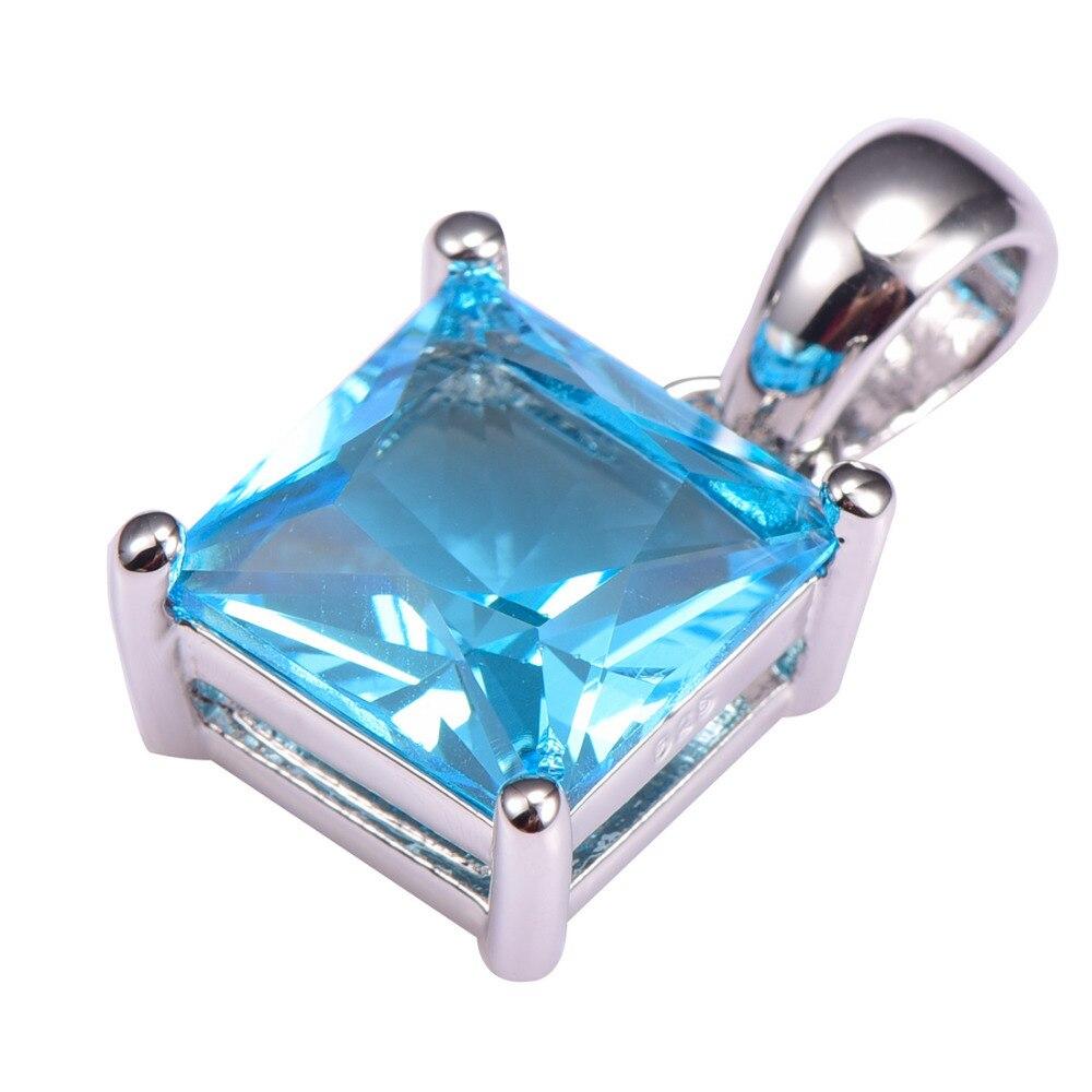Venda quente simulado aquamarine pingente 925 prata esterlina frete grátis mais recente moda atraente pingente de jóias pp36