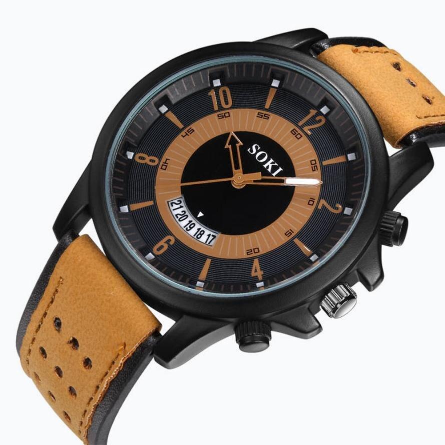 SOKI 2018, Reloj de pulsera con correa hueca para Hombre, Reloj deportivo Esfera Grande de silicona de cuarzo, relojes de pulsera de lujo de marca superior, Reloj militar para Hombre