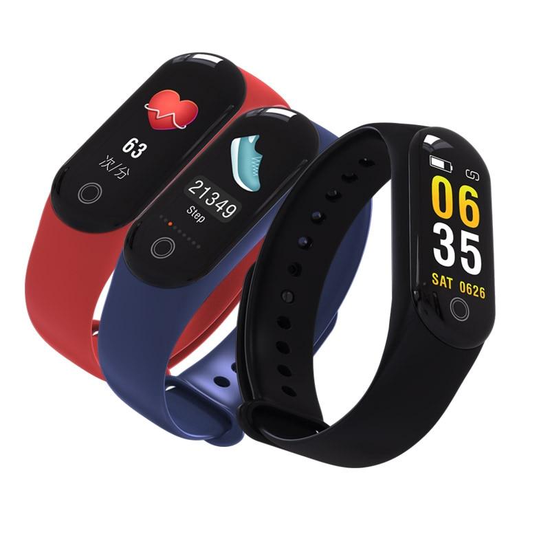 Inteligente BT4 Fitness pulsera rastreador continua monitorización del ritmo cardíaco podómetro pulsera WhatsApp SMS a notificador Monitor de sueño