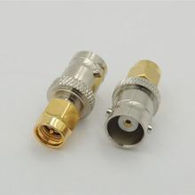 50PCS copper BNC female to SMA male plug RF Coaxial coax antenna ADAPTER