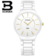 Fashion Elegant Women White Ceramic Watches Imported Quartz Lovers Bracelet Wrist watch Simple 2 Han
