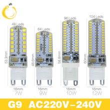 5pcs/lot  G9 G4 LED Bulb Lamp SMD2835 3014 AC220V 3W 7W 8W 10W 12W G4 G9 LED Bulb 360 Degree Crystal bulb