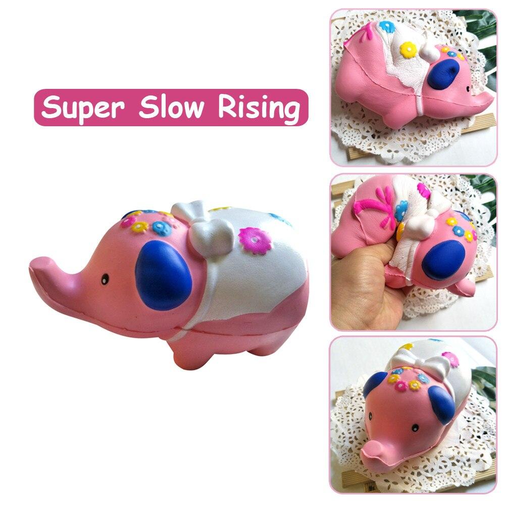 DROPSHIPING Squishies Adorable elefante de crecimiento lento crema Squeeze perfumado alivio del estrés juguetes de desarrollo caliente nuevo W521