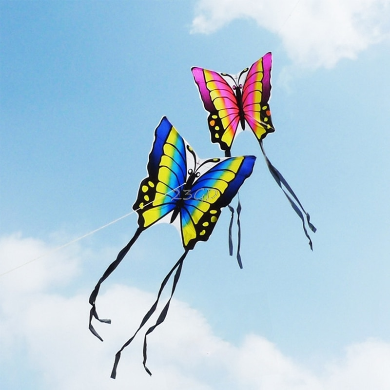 Beautiful Butterfly Kite Outdoor Toy Sport Gift for Kids Children With String Tail 35 Inch
