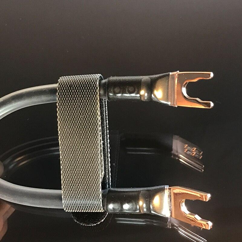 Cable de audio para altavoz HiFi MPS 99.99997% OCC cable de audio para amplificador de altavoz Hifi cable de conexión bi-cable