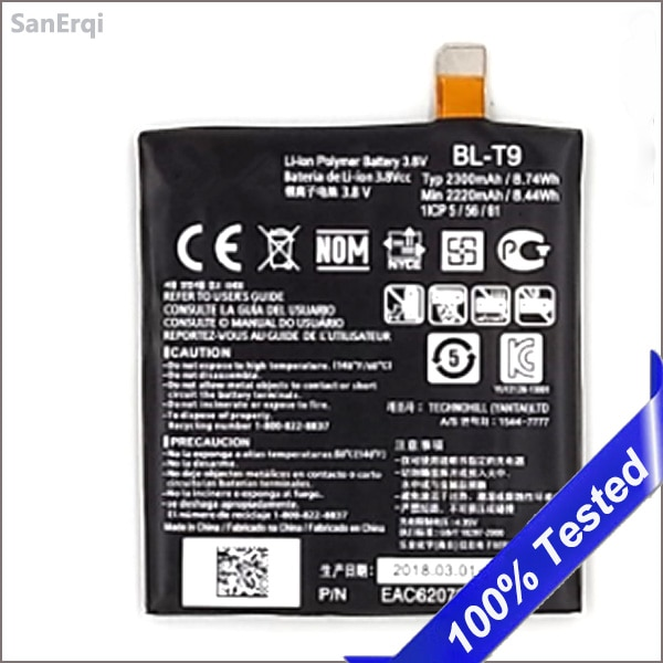 BL-T9 para LG Google Nexus 5 D820 batería D821 E980 BLT9 2300 mAh batería