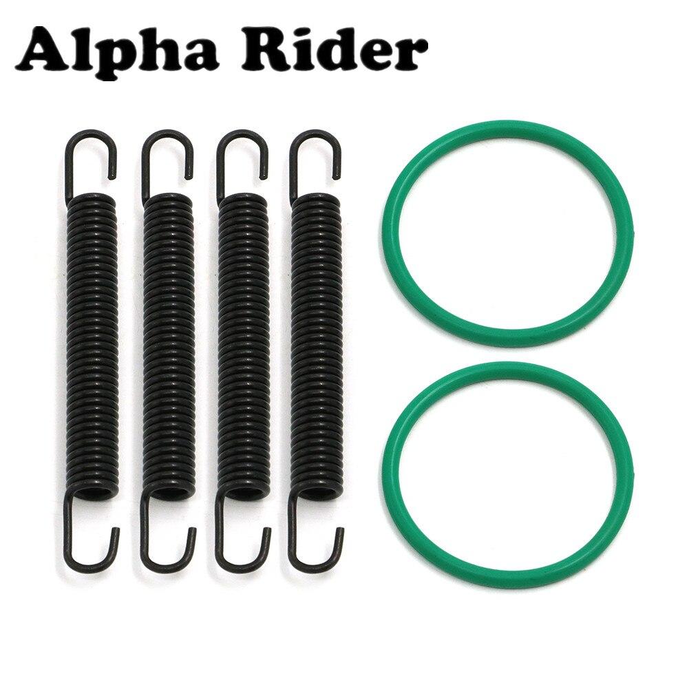 Piezas de ATV tubo de escape Springs & O-Kit de juntas de anillo para Yamaha YFZ350 BANSHEE 350 año 1987-2006, 2005, 2004, 2003, 2002, 2001, 2000