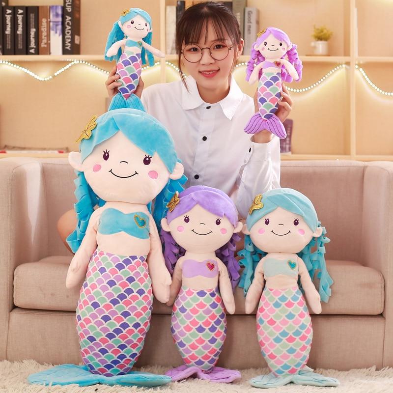 30 cm/60 cm/90 cm juguete de peluche suave princesa sirena muñeco de peluche mejor regalo