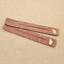 She Love 1 Pc Random Design Wooden Wood Incense Burner Holder Ash Catcher for Sticks Home Decoration