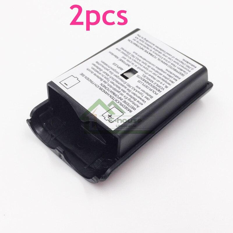 2 stücke für Xbox 360 Batterie Fall Wireless Controller Akku Abdeckung Für Xbox 360 Controller Mit Aufkleber