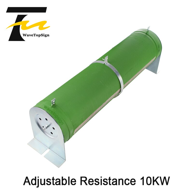 WaveTopSign High-power Tube Type Wire Wound Resistors Adjustable Resistance 10KW 0.5O-10KO