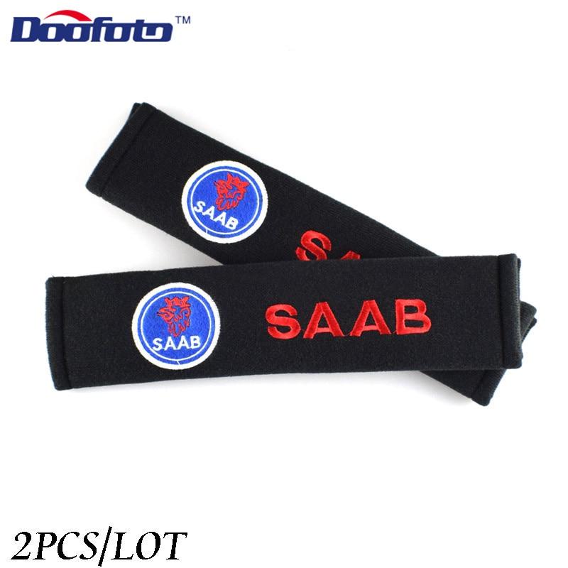 Doofato, funda de cinturón de seguridad para coche para Saab 03-10 9-3 9-5 93 95 9000 900 428, promoción de accesorios de insignia adhesiva para coche