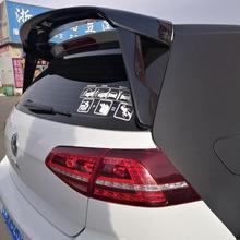 for Volkswagen GOLF 7 MK7 spoiler 2014-2018 mk7.5 high quality ABS material car tail black rear spoiler