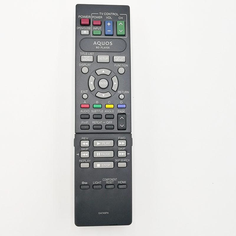 Nuevo control remoto Original ga749pa para reproductor de dvd sharp Blu-ray
