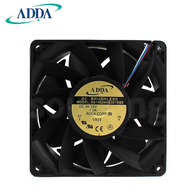 مروحة تبريد ADDA AS14024HB387BB0, 24V 1.5A 14038 4line PWM control speed