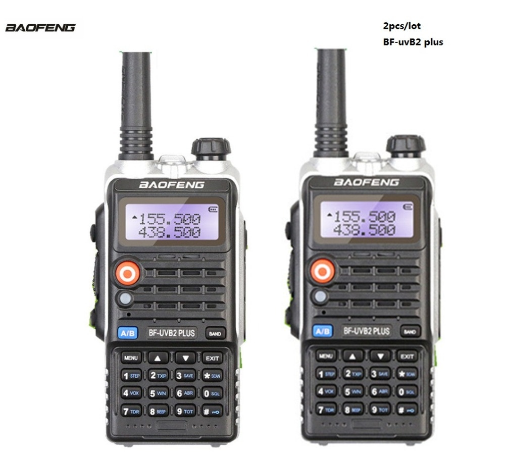 2 шт. BaoFeng BF-UVB2 CB радио рация двухстороннее радио коммуникатор Baofeng UV-B2 плюс мобильный коммуникатор