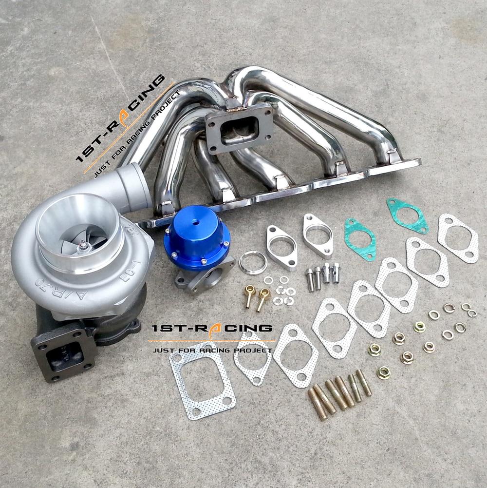 Для Nissan Skyline R33 R34 RB25DET Exhuast коллектор + GT3582 A/R 0,63 Turbo + 38 мм