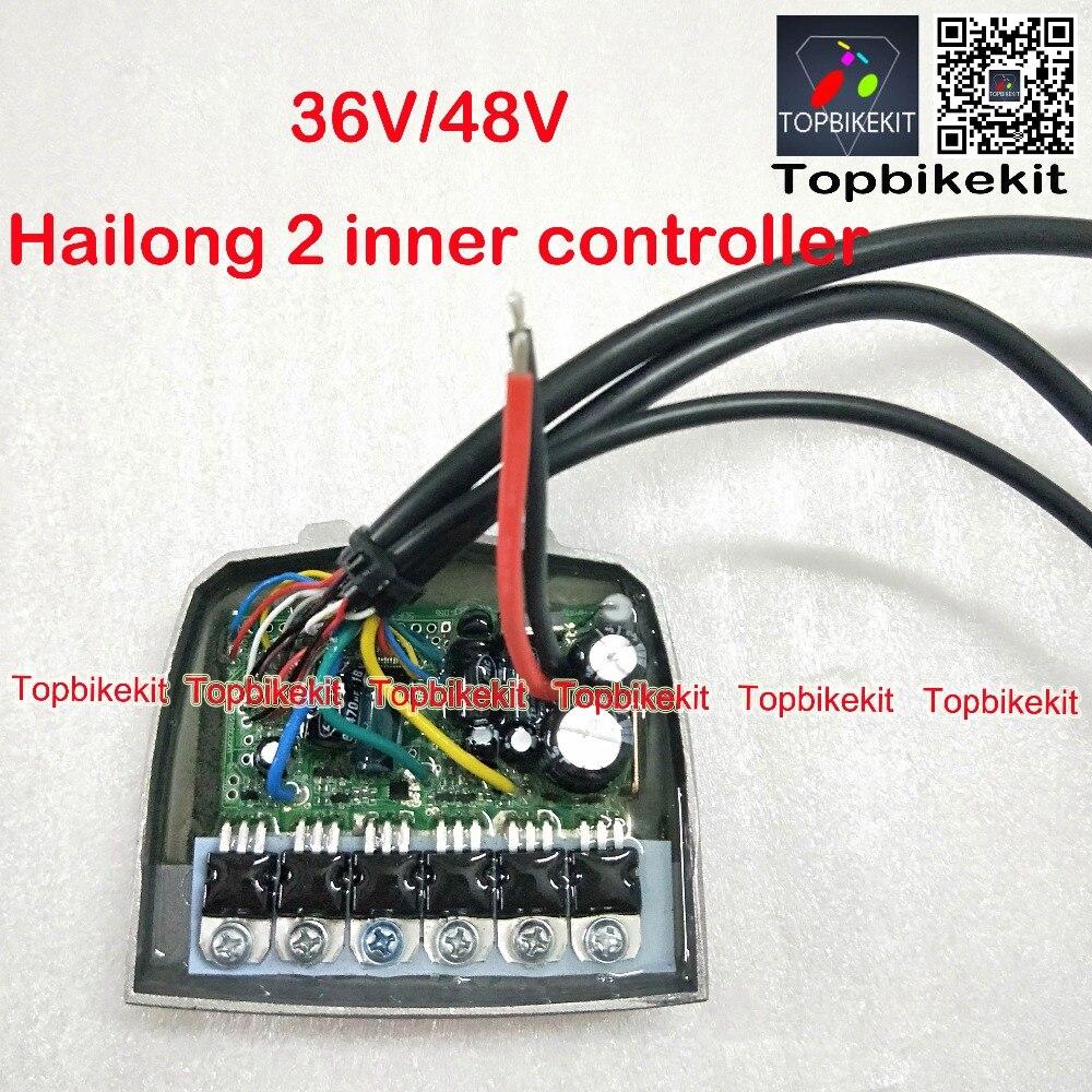 Hailong 2 controlador de batería 36V / 48V 250W- 350W Hailong2 controlador para 10S/13S/14S Hailong2 controlador de batería 15A 6 mosfers