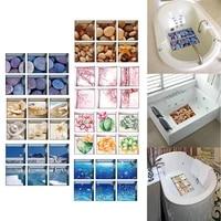 Applique de baignoire antiderapante 3D 6 pieces   Autocollant de bain  autocollant de salle de bains  PVC Mural antiderapant  decoration de la maison etanche