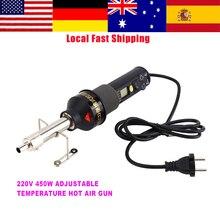 220V 450W LCD Elektronische Wärme Hot Air Gun Entlöten Löten Station IC SMD BGA Einstellbare Temperatur Schweißen Liefert neue