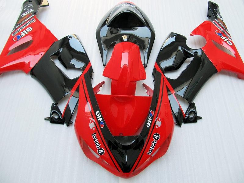 100% NUEVO + Rojo negro kit de carenado PARA KAWASAKI NINJA ZX 6R 636 05 06 ZX-6R 05-06 ZX6R 2005 2006 05 ZX 6R 06 carenados ABS AN2YY