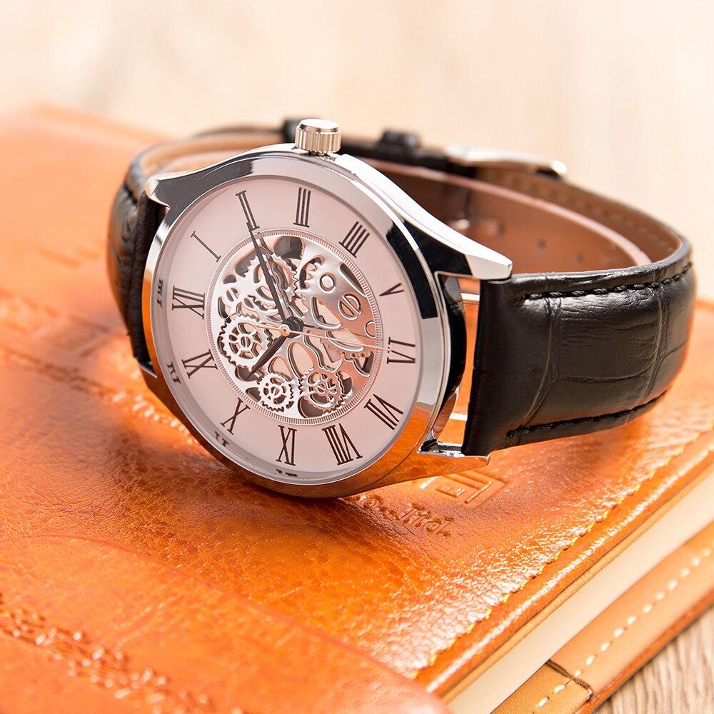 Reloj de pulsera de cuero con movimiento japonés para hombre, reloj para regalo de cumpleaños