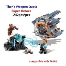Neue Super Thor der Waffe Quest Hero endgame Unendlichkeit Krieg Kompatibel Mit 76102 07105 Gebäude ziegel lepining Blöcke Spielzeug geschenk