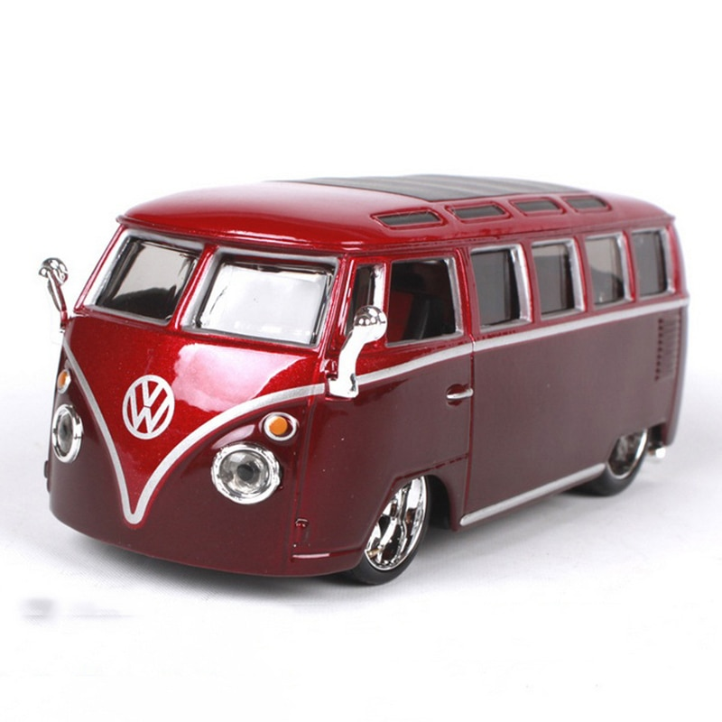 Красный и желтый цвета 1/32 весы Volkswagen VW Van Samba, модели автобусов, коллекции, подарки, дисплеи