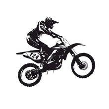 17cm*15.5cm Creative Vinyl Sports Car Racing Motorcycle Decal Sticker S2-0087