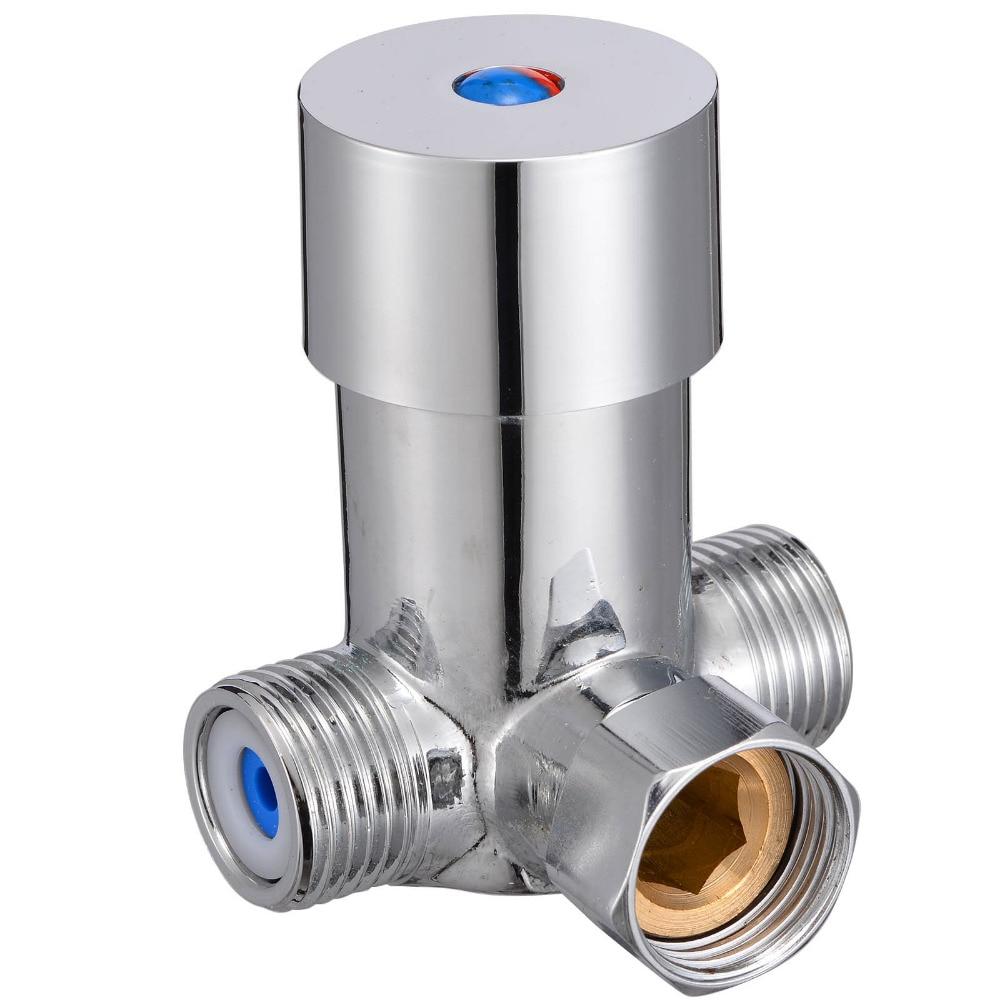 Mixing Valve Temperature Hot Cold Water Control  Mixer Mixing Valve Sensor Tap Shower Faucets