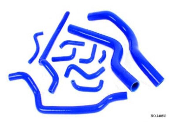Kit de manguera de radiador de silicona para MITSUBISHI Eclipse DSM 4G63T 1G 90-94 (6 uds) rojo/azul/negro