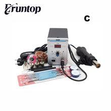 Station de soudure Eruntop 858D sans plomb LED station de dessoudage de fer à souder numérique