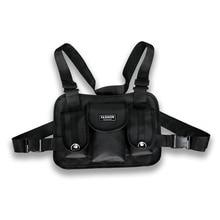 Multi Function Pocket Gilet Vests Men Cross Waist Bag Punk Chest Rig Summer Streetwear Functional Tactical Decoration Coat Vest