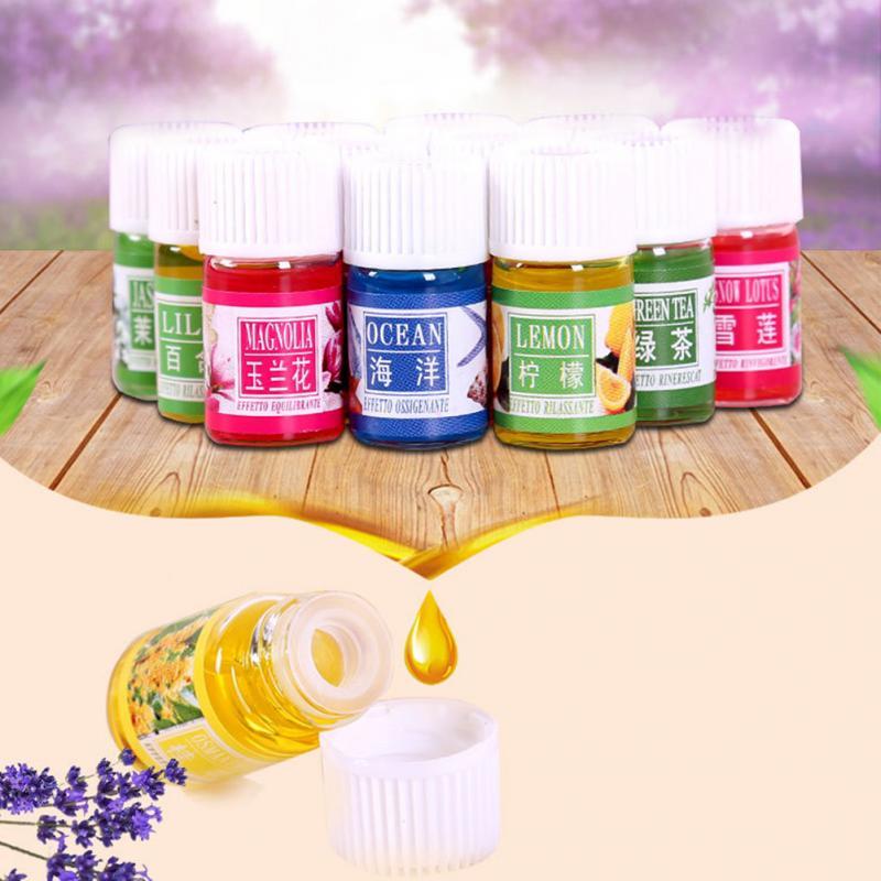 Paquete de 12 unids/lote de aceites esenciales aromáticos de 3ML para aromaterapia, Spa, masaje, cuidado de la piel, aceite de lavanda para aliviar la fatiga, esencia de plantas