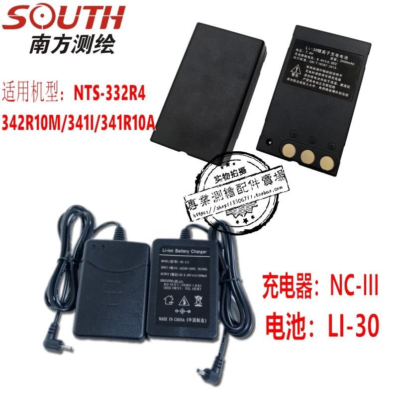 South Total Station batería LI-30 NTS-332R4 de batería/342R10M cargador NC-III